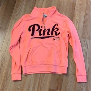 Victoria Secret Pink 1/4 Zip Sweatshirt.